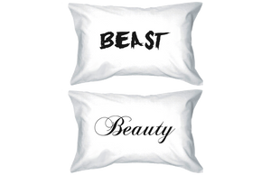 beauty and the beast pillowcase set for couples