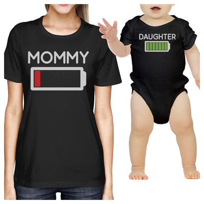 ade3aceca Mommy & Daughter Battery Black Mom and Baby Girl Matching T Shirt - 365 IN  LOVE - Matching Gifts Ideas