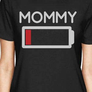 Mommy & Daughter Battery Black Matching Shirt For Mom and Baby Girl - 365INLOVE