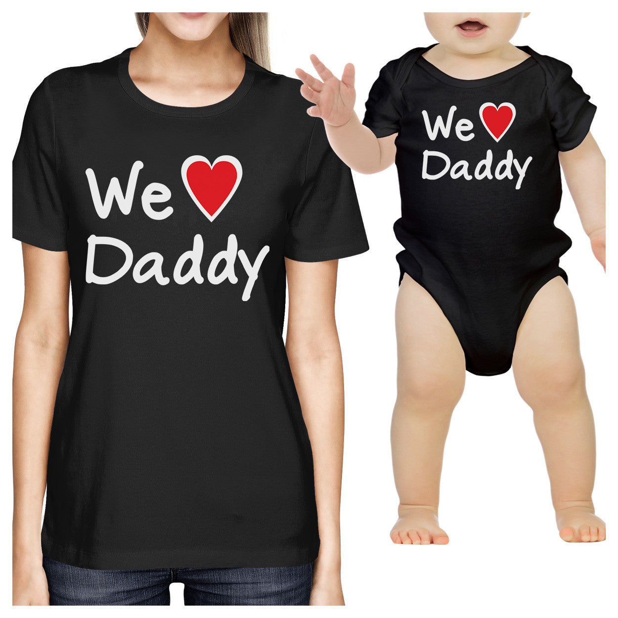 942558476 We Love Daddy Black Mom and Baby Matching Outfits Fathers Day Gifts ...