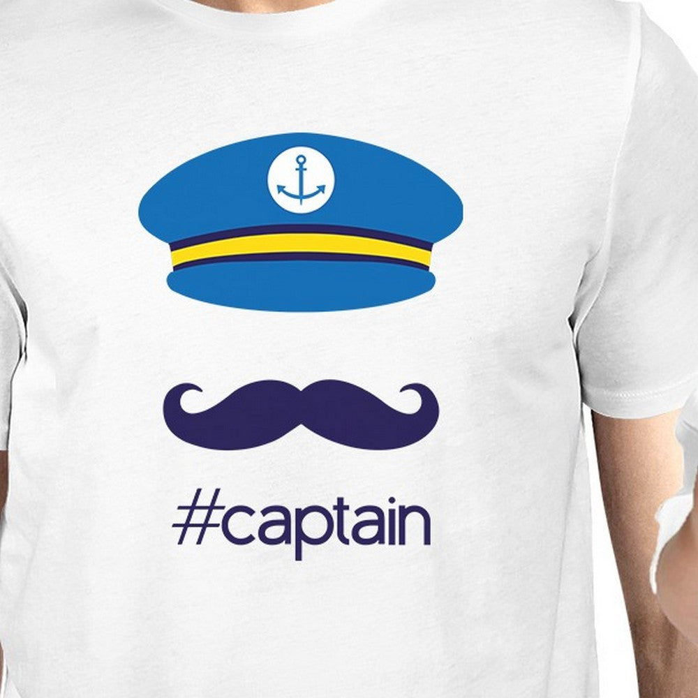 my captain white cute dad and baby boy matching shirts dad gifts
