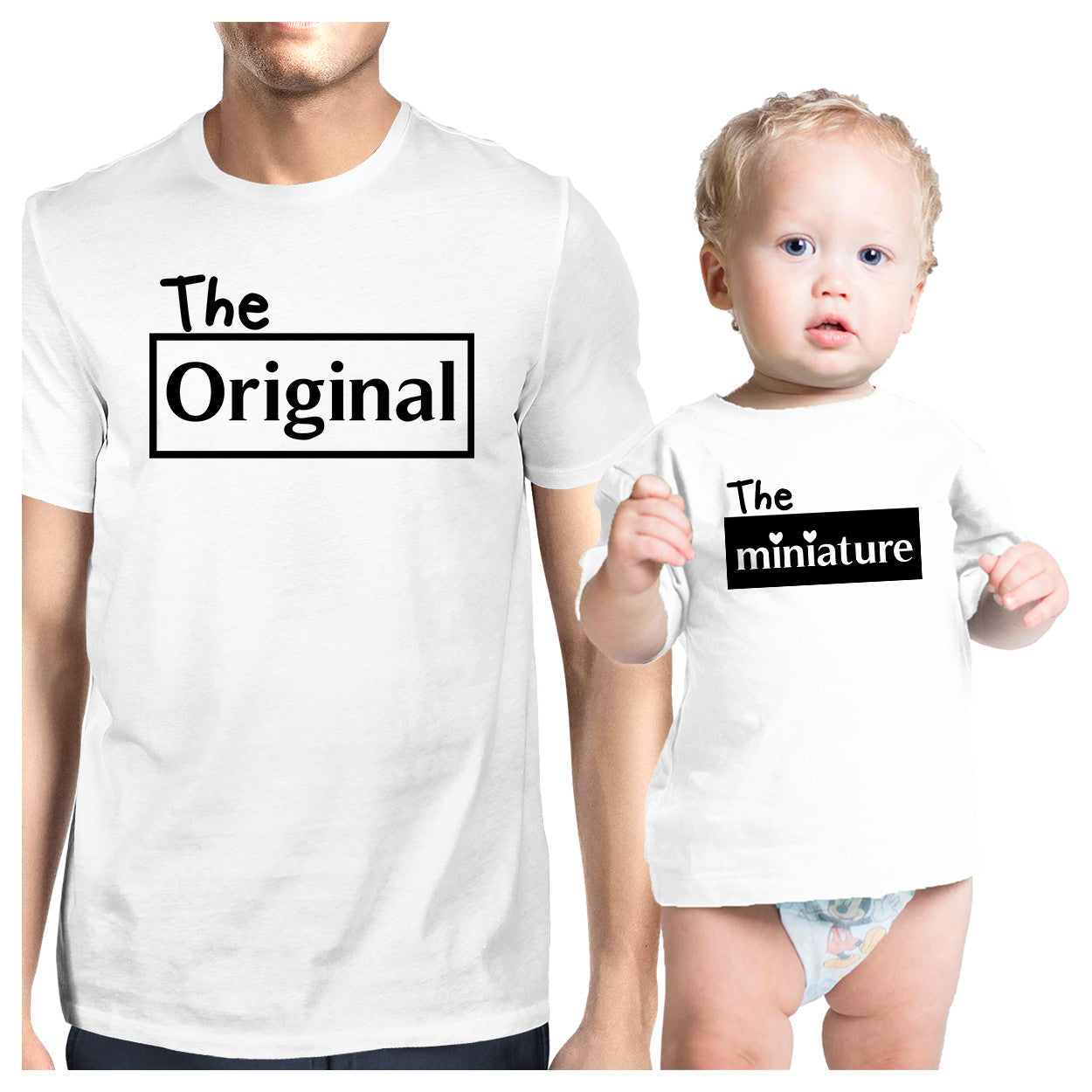 651ec9c6 Original And Mini White Dad Baby Boy Shirts Funny Fathers Day Gifts ...