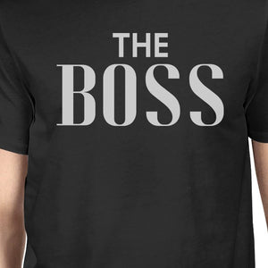The Real Boss Black Matching Graphic T-Shirts For Dad and Baby Boy - 365INLOVE