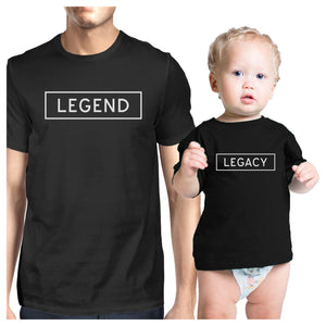 Legend Legacy Dad Baby Couple T Shirts Funny Gift For Baby Shower - 365INLOVE
