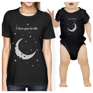 Moon And Back Mom and Baby Matching Gift T-Shirts For New Moms