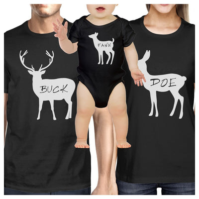 Buck Mens Black T Shirt Unique Family Matching Shirts For Dad Gifts