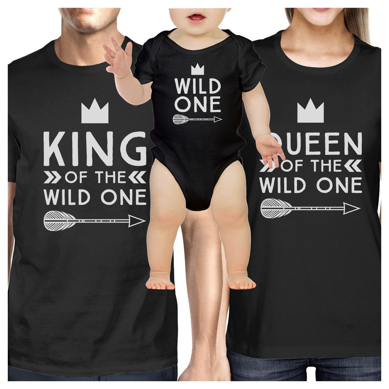ce8b6074 King Wild One Mens Black T-Shirt First Fathers Day Gift For New Dad ...