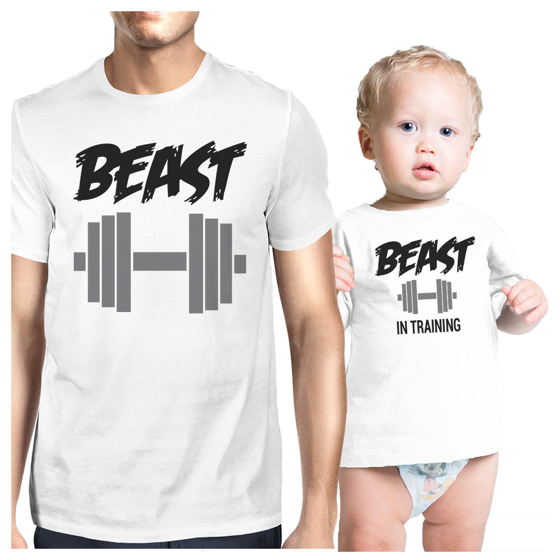 53294ed22 Beast In Training Dad and Baby Matching Gift T-Shirts Fathers Day ...