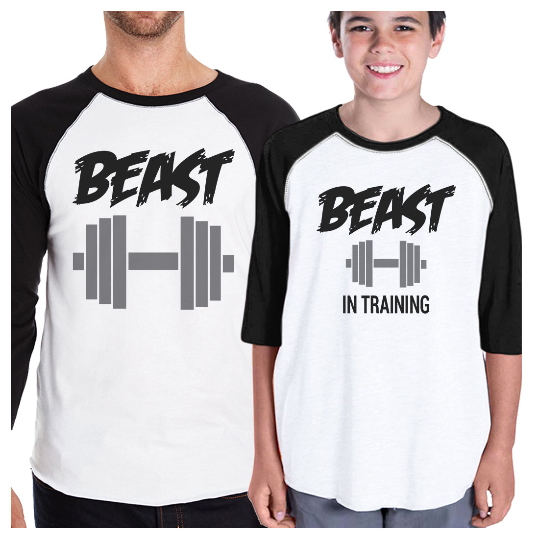 0cf64c4f634 Beast In Training Dad and Kid Matching Baseball Shirts New Dad Gift ...