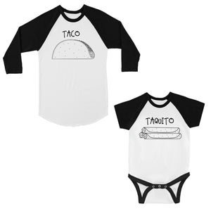Taco Taquito Dad Baby Matching Baseball Shirts