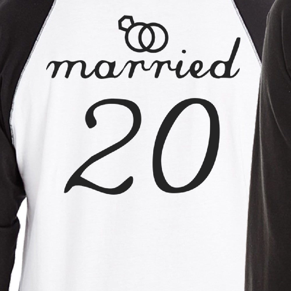 933d2a5a95 Married Since Custom Matching Couple Black And White Baseball Shirts ...