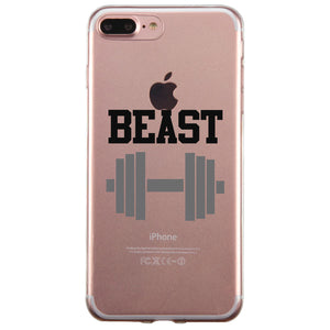 Beast And Beauty Couple Matching Phone Cases Tough Love Strong Gift