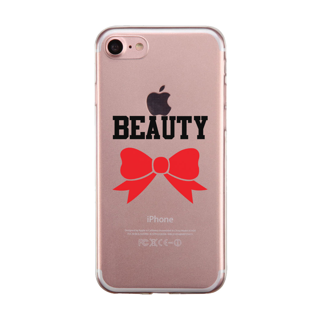 online retailer 24e12 6cf4c Beast And Beauty Couple Matching Phone Cases Tough Love Strong Gift
