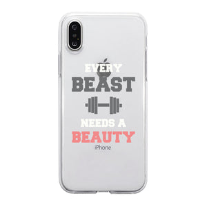 Every Beauty Beast Couple Matching Phone Cases Supportive Powerful