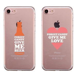 Bottle And Heart Couple Matching Phone Cases Witty Valentine's Day