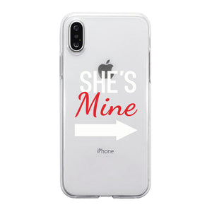 Mine Red Couple Matching Phone Cases Romantic Thoughtful Proud Gift