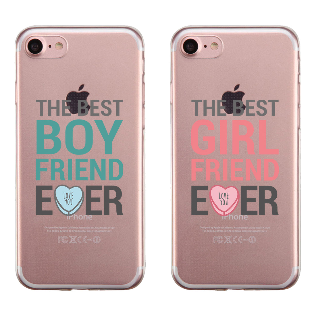 watch 9f447 31129 Best BF GF Ever Couple Matching Phone Cases Cute Valentine's Day
