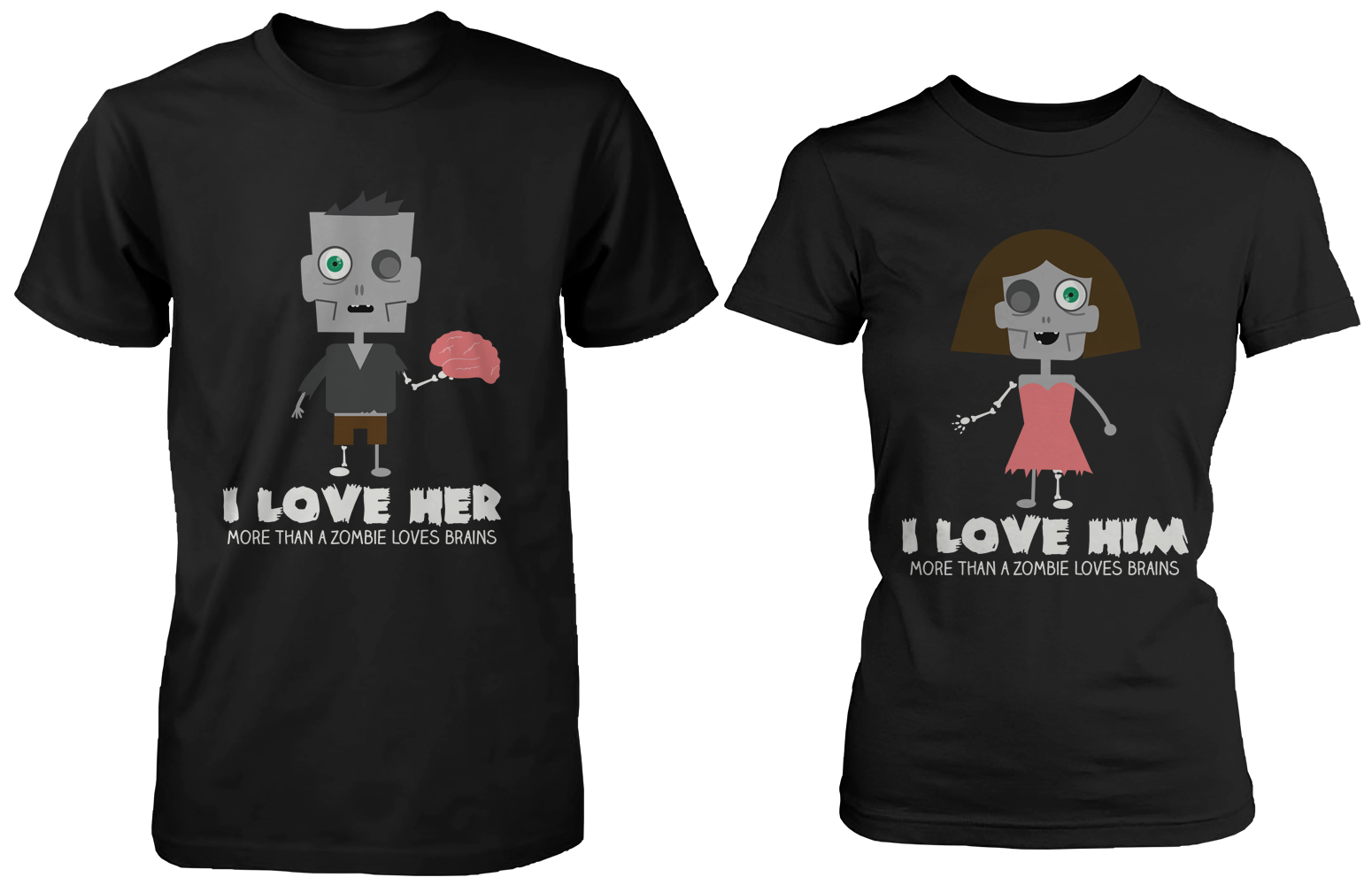 Halloween 365 in love matching gifts ideas zombie shirts for boyfriend and girlfriend solutioingenieria Image collections