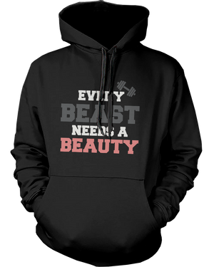 beauty beast couple hoodies