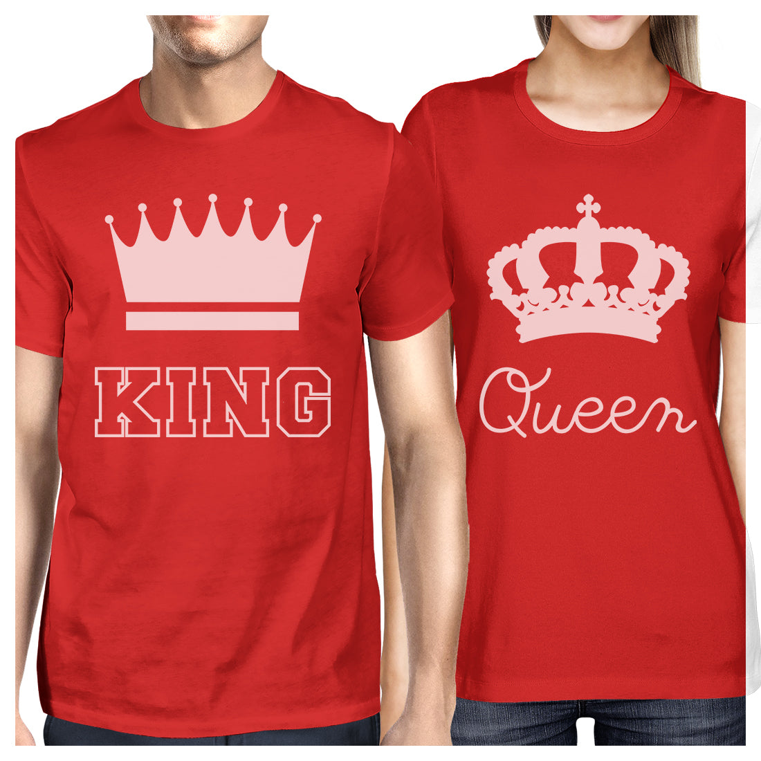 40cfc55e67 King And Queen Matching Couple Gift Shirts Red His and Hers Tshirts ...