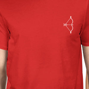 Bow And Arrow To Heart Target Matching Couple Red Shirts