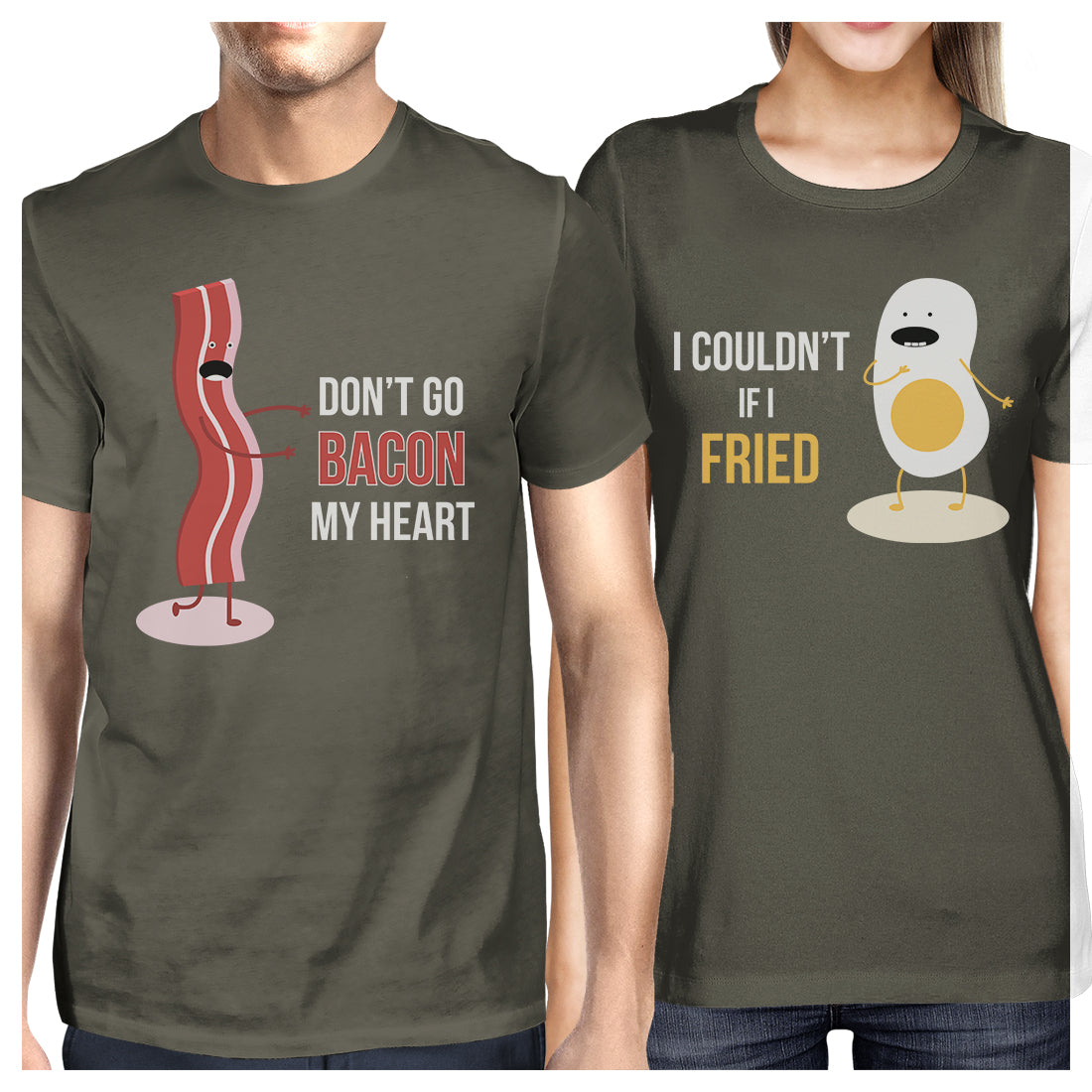 f5ca0f6d2b Bacon And Egg Matching Couple Gift Shirts Cool Grey For Anniversary ...