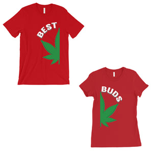Best Buds Marijuana Graphic Shirts Red Cute Couples Matching Gifts