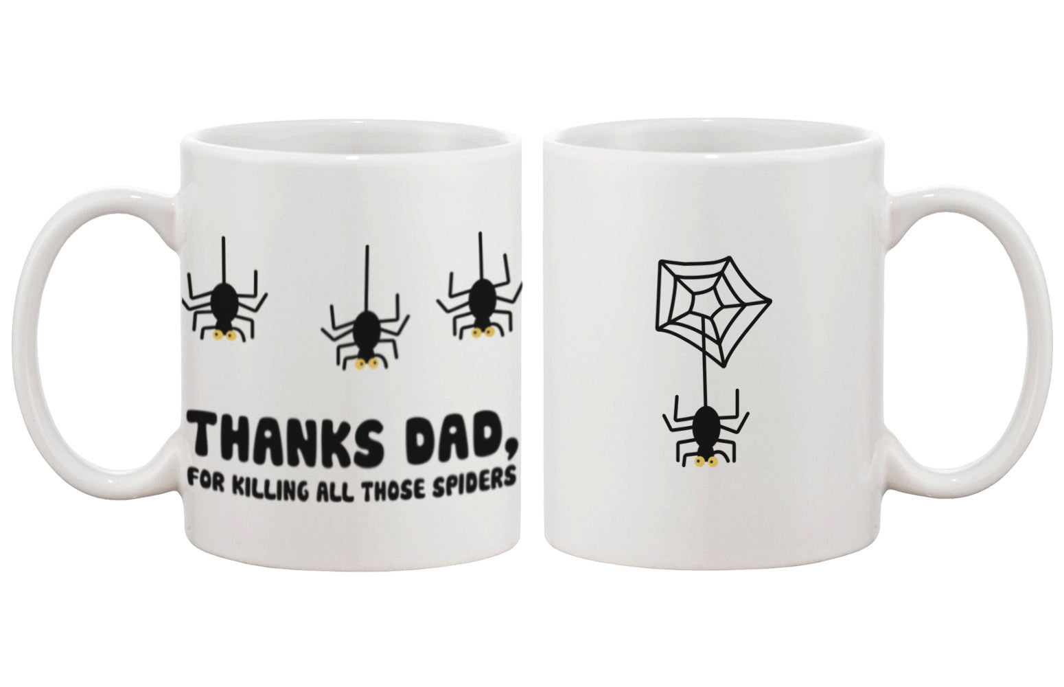 father s day mug for dad thanks for killing all those spiders
