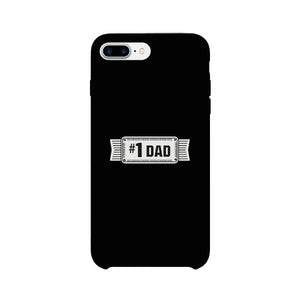 #1 Dad Black Phone Case - 365INLOVE