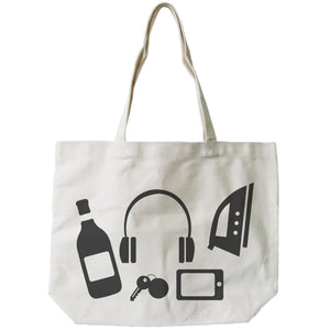 Stock Up Bag Funny Graphic Design Printed Tote Canvas Bag - 365INLOVE
