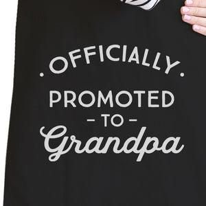 Officially Promoted To Grandpa Black Canvas Bag