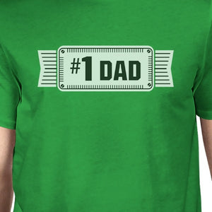 #1 Dad Mens Green Funny Fathers Day Graphic Shirt Unique Dad Gifts - 365INLOVE