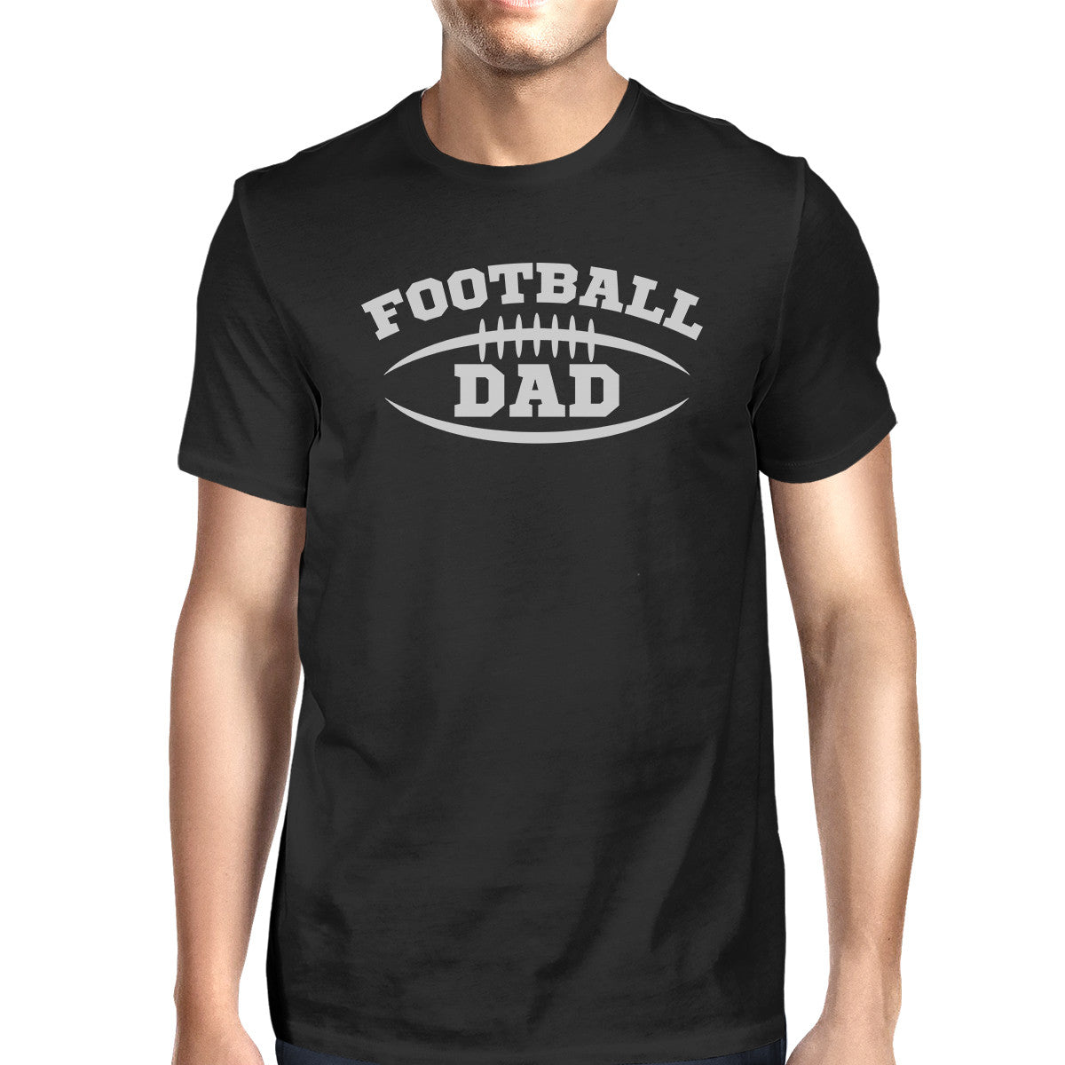 54a561c4d Football Dad Men's Black T-Shirt Fathers Day Gifts For Football Dad ...