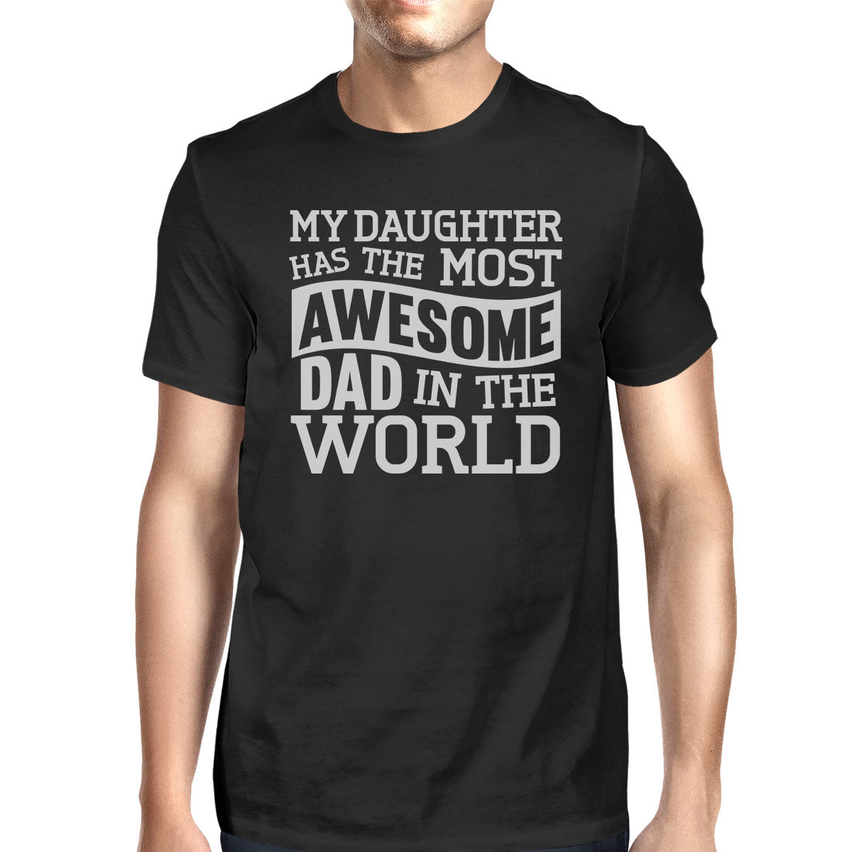 10346a51 The Most Awesome Dad Mens Black T Shirt Perfect Dad Birthday Gift ...
