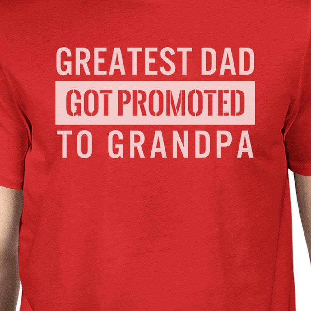 442008ba15 Got Promoted To Grandpa Men's Funny Grandpa Shirt For Fathers Day ...