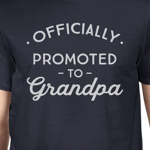 Officially Promoted To Grandpa Mens Navy Shirt