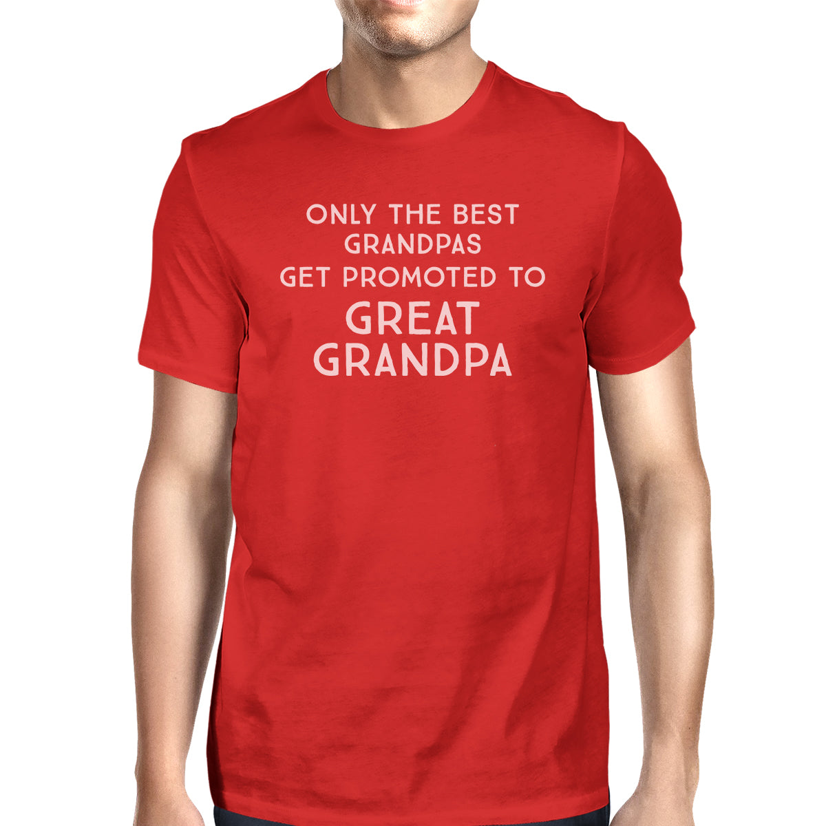 f311c9f03ee49 Only The Best Grandpas Get Promoted To Great Grandpa Mens Red Shirt ...