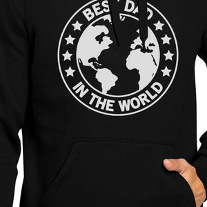 World Best Dad Black Unisex Hoodie Fathers Day Gifts For Husband - 365INLOVE