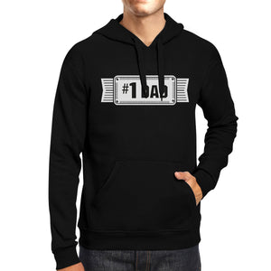 #1 Dad Unisex Black Hoodie For Men Perfect Dad's Birthday Gifts - 365INLOVE