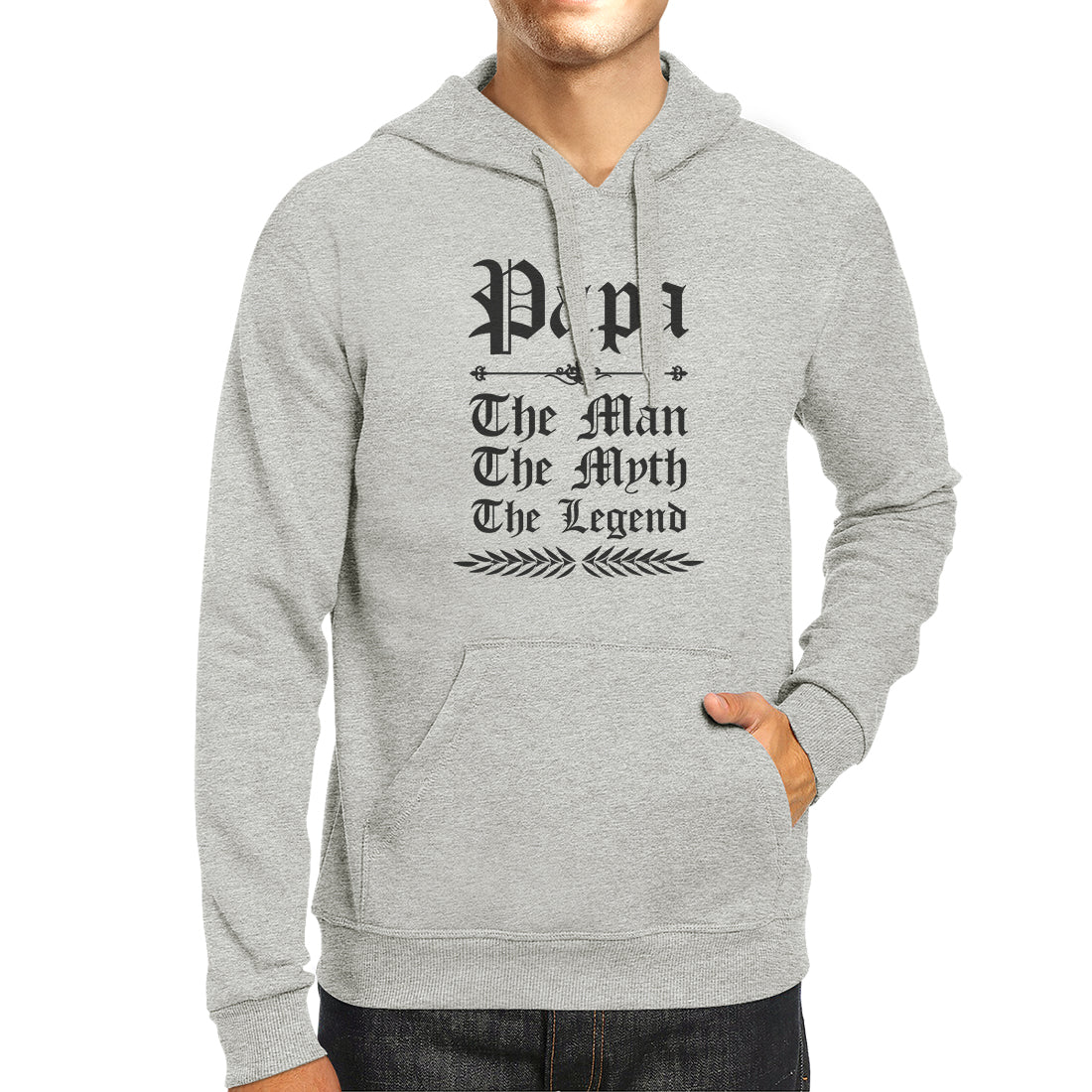 Vintage Gothic Papa Unisex Fleece Hoodie Unique Birthday Gift Idea 365 In Love Matching Gifts Ideas
