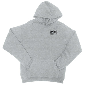 Mom Korean Letters Mens/Unisex Pullover Hooded Sweatshirt