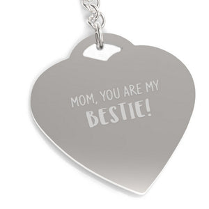 Mom You Are My Bestie Key Chain Mother's Day Gifts From Daughter - 365INLOVE