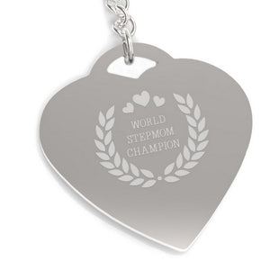 World Stepmom Champion Keychain Cute Gift Ideas For Stepmothers - 365INLOVE