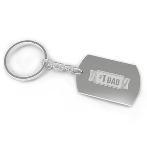 #1 Dad Key Chain Unique Fathers Day Gift Ideas Funny Gifts For Dad - 365INLOVE