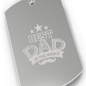 Best Dad In The World Dog Tag Style Key Chain Dad Gifts From Son - 365INLOVE
