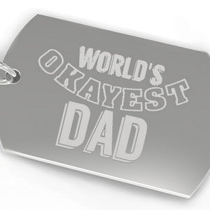 World's Okayest Dad Funny Cool Dad Gifts Humorous Gifts For Father - 365INLOVE