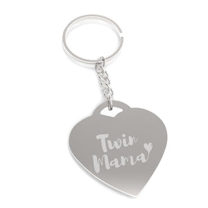 Twin Mama Mother's Day Gift Novelty Key Chain Engraved For Moms