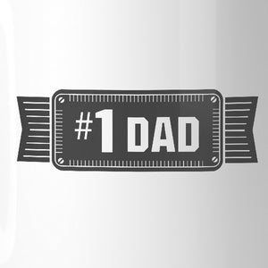 #1 Dad Ceramic Coffee Mug Unique Vintage Design Mug Gifts For Dad - 365INLOVE