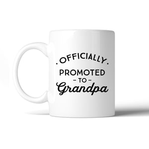 Officially Promoted To Grandpa White Mug