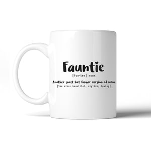 Fauntie 11 Oz Ceramic Coffee Mug